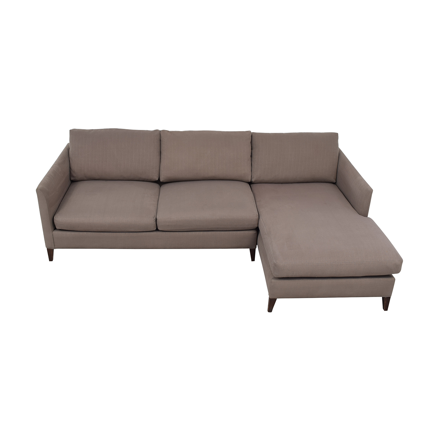Crate & Barrel Crate & Barrel Grey Chaise Sectional Sectionals