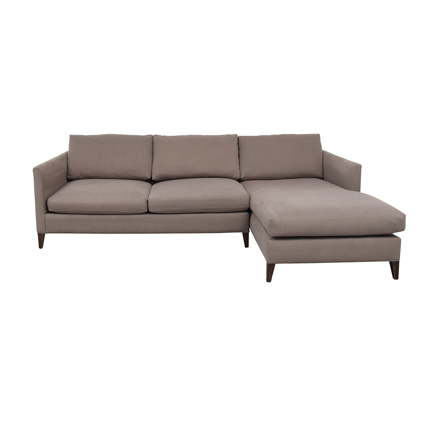 shop Crate & Barrel Grey Chaise Sectional Crate & Barrel Sofas