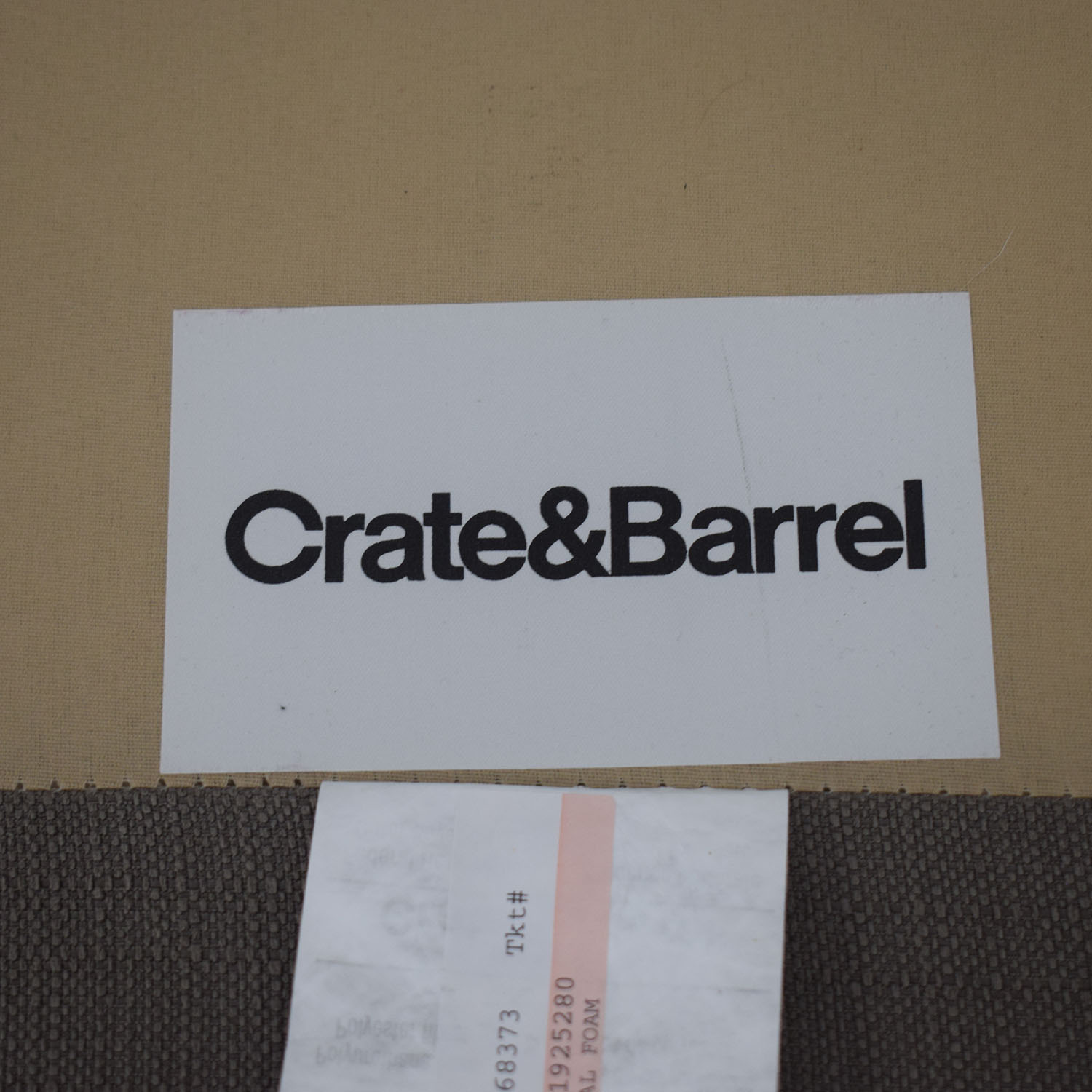 buy Crate & Barrel Grey Chaise Sectional Crate & Barrel Sofas