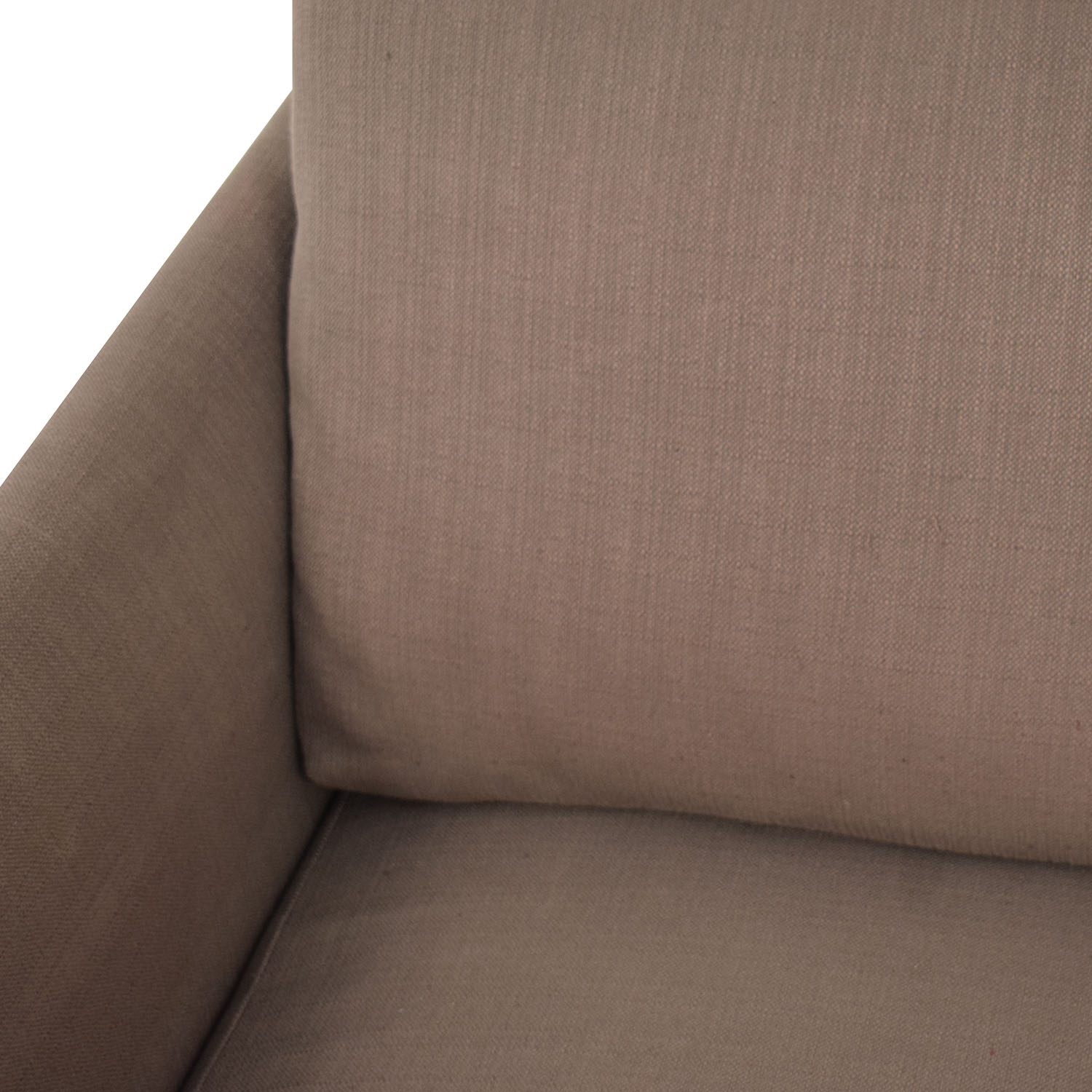 Crate & Barrel Crate & Barrel Grey Chaise Sectional discount