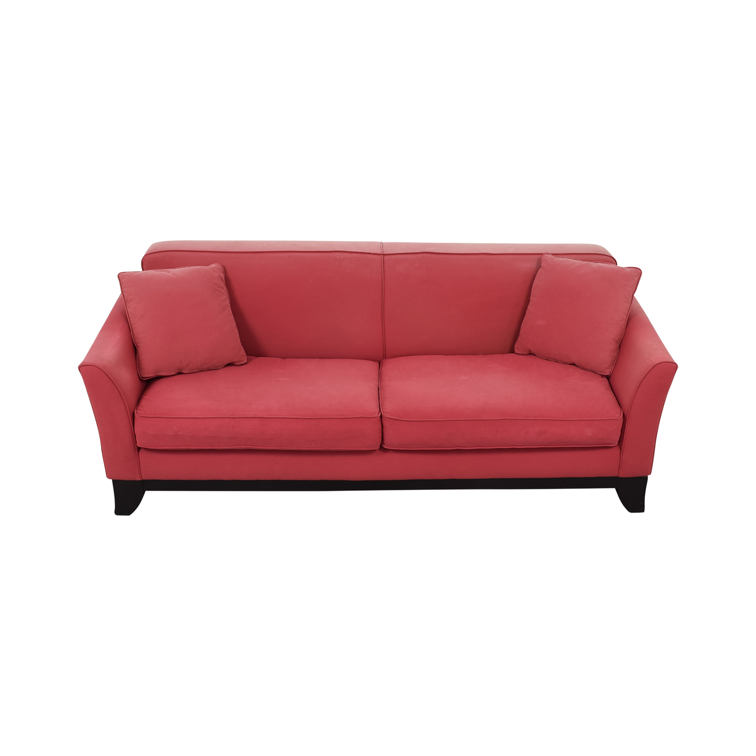 Pottery Barn Cardinal Red Two-Cushion Sofa / Classic Sofas