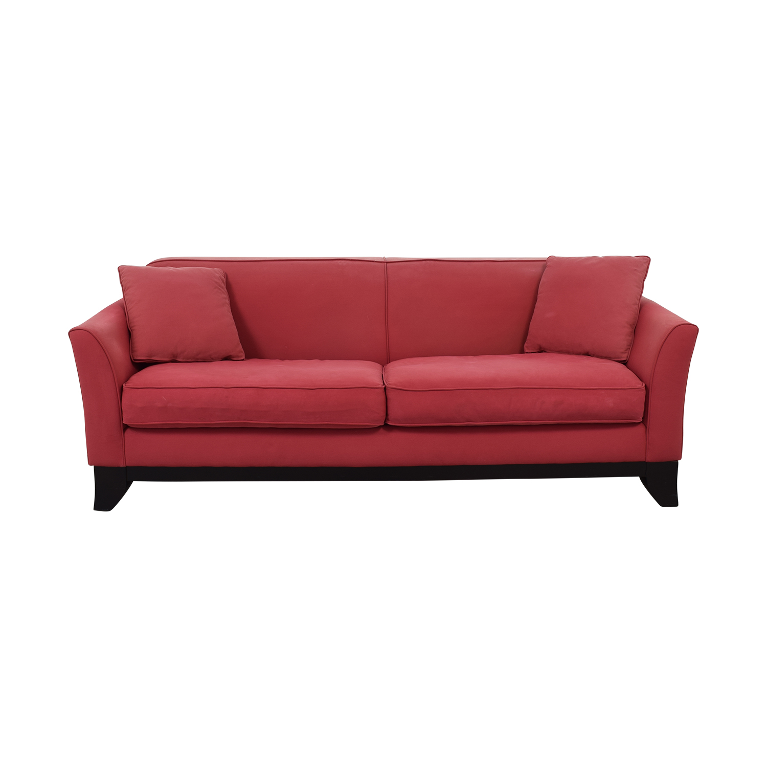 Pottery Barn Pottery Barn Cardinal Red Two-Cushion Sofa second hand