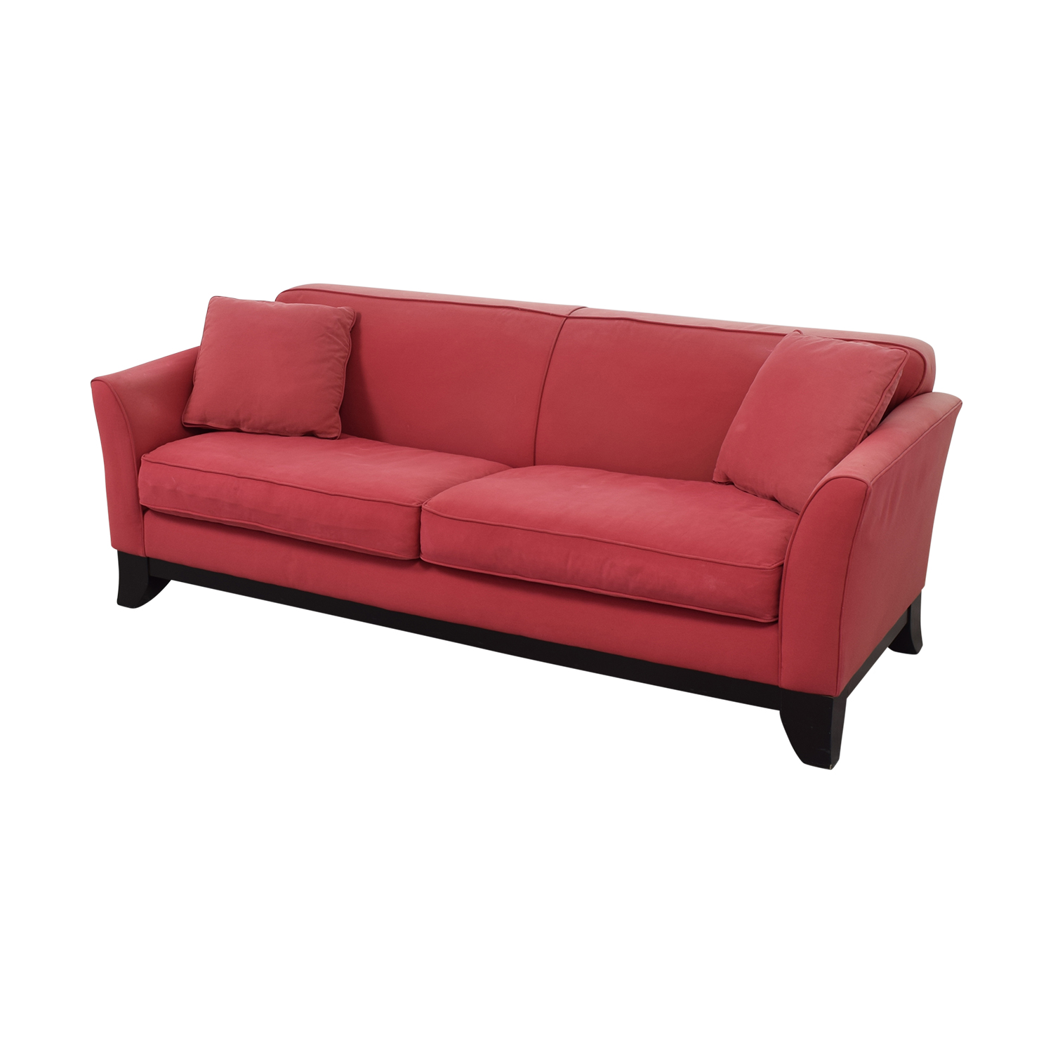 Pottery Barn Cardinal Red Two-Cushion Sofa / Sofas
