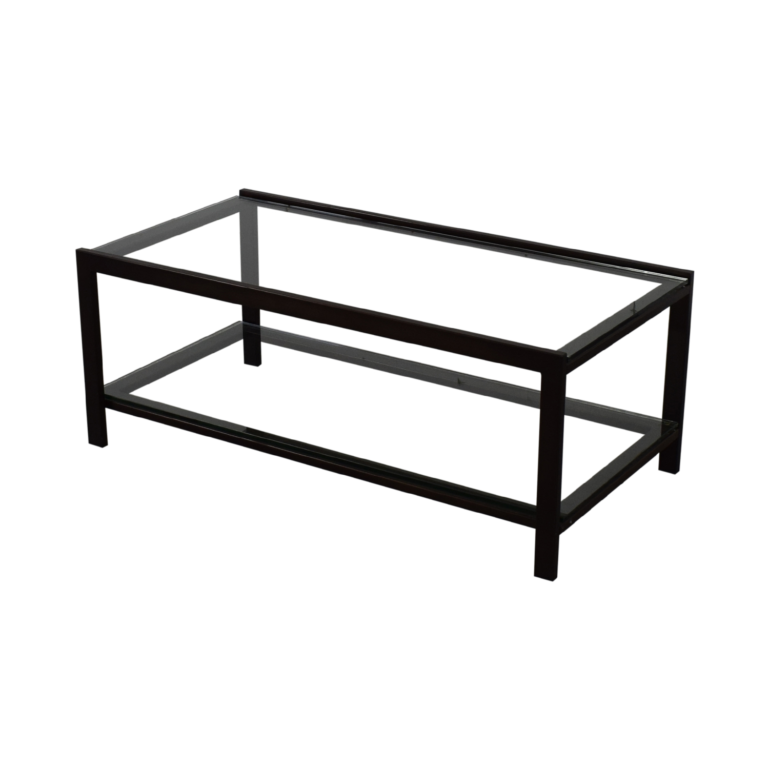 buy Crate & Barrel Glass Coffee Table Crate & Barrel
