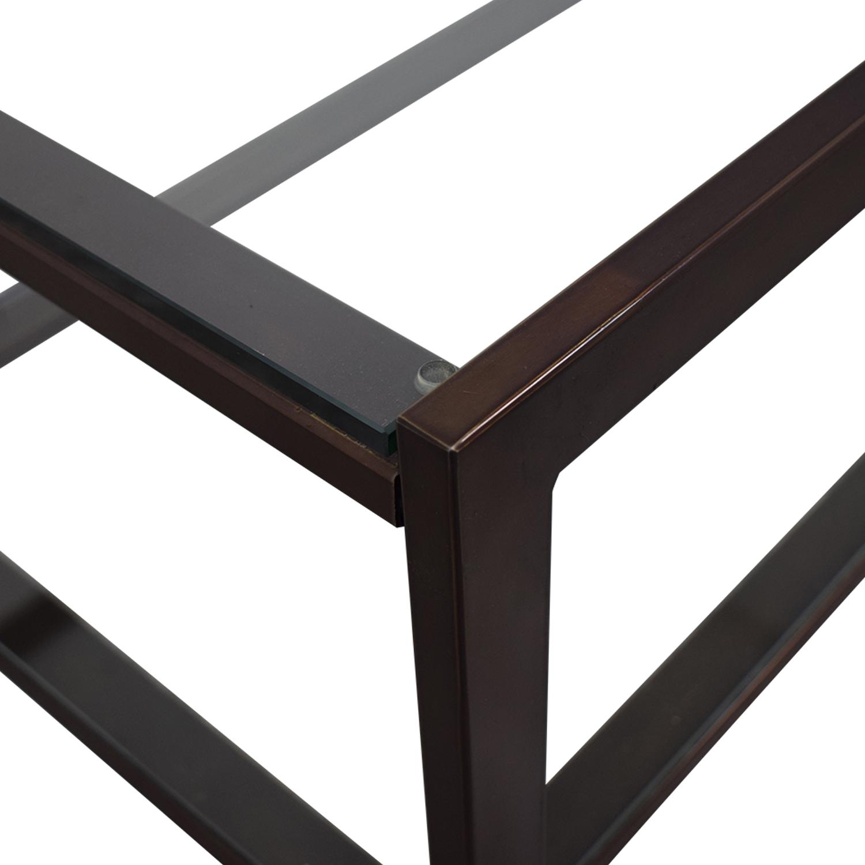 Crate & Barrel Crate & Barrel Glass Coffee Table price