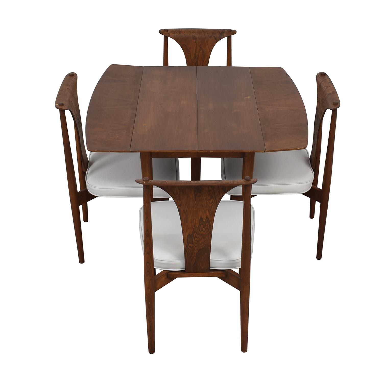 John Widdicomb Co. John Widdicomb Company Mid-Century Dining Set Brown, White