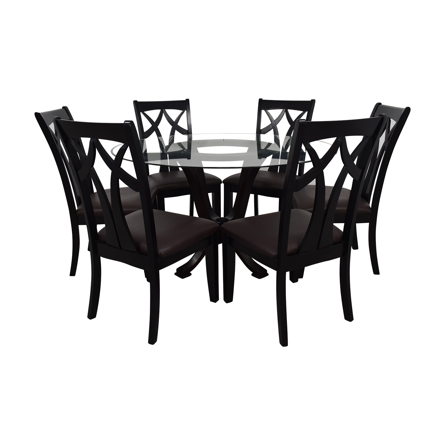 Raymour & Flanigan Raymour & Flanigan Contemporary Style Round Table With Six chairs dimensions