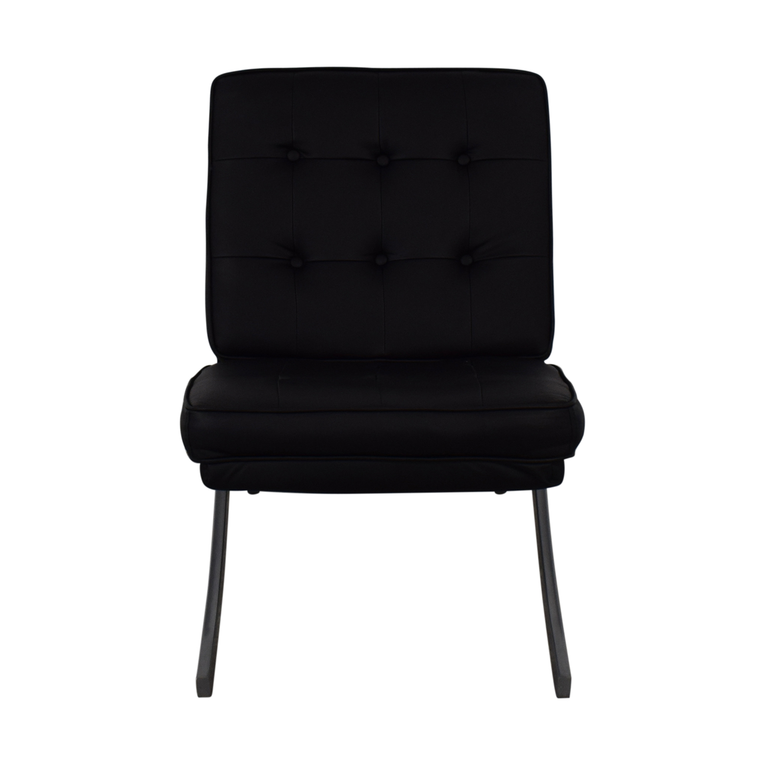 shop Raymour & Flanigan Black Accent Chair Raymour & Flanigan Chairs