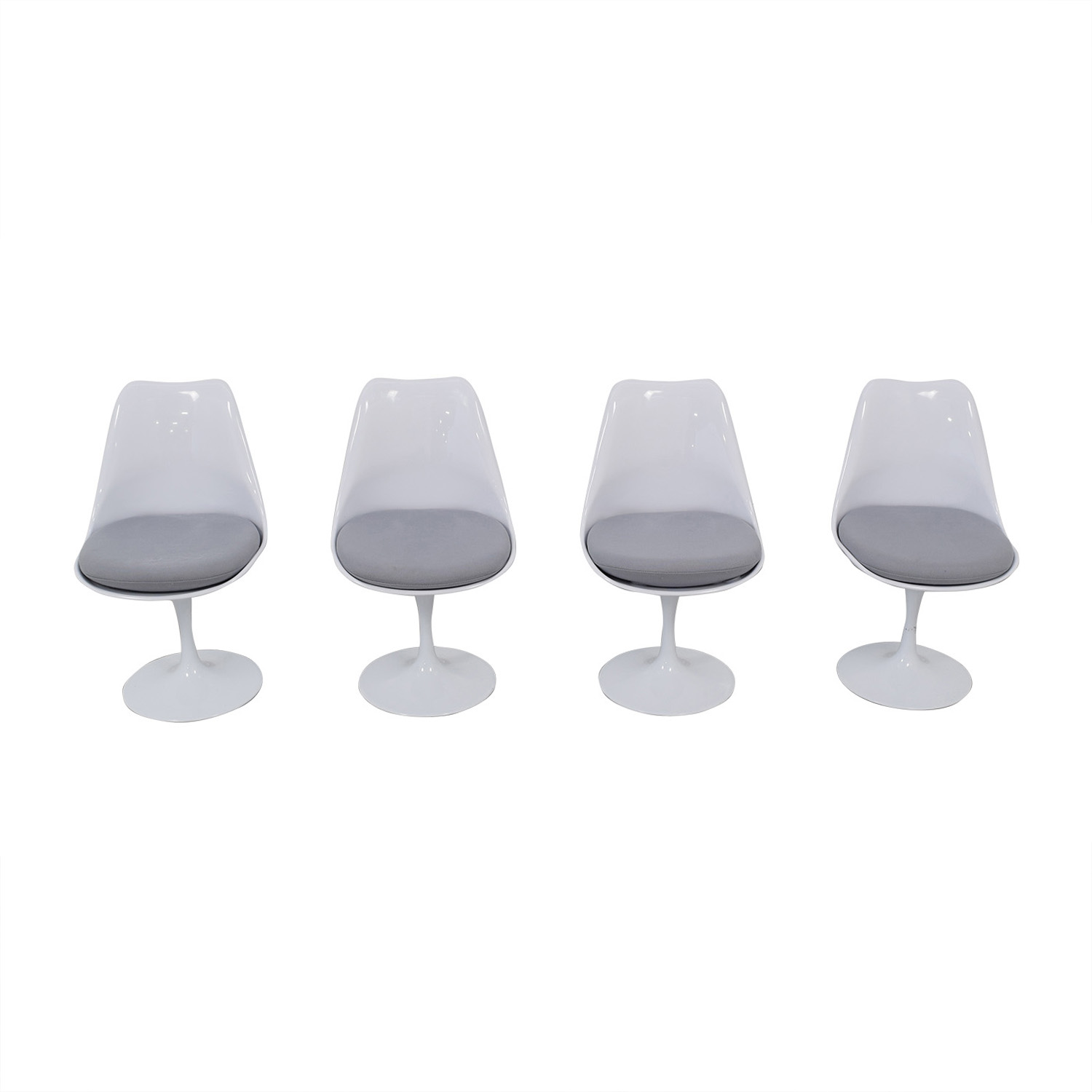 Modway Modway Lippa Gray Dining Fabric Side Chairs second hand