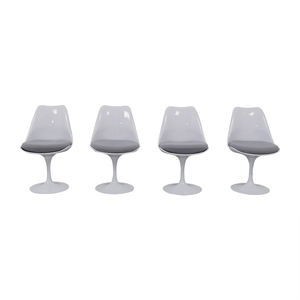 shop Modway Lippa Gray Dining Fabric Side Chairs Modway