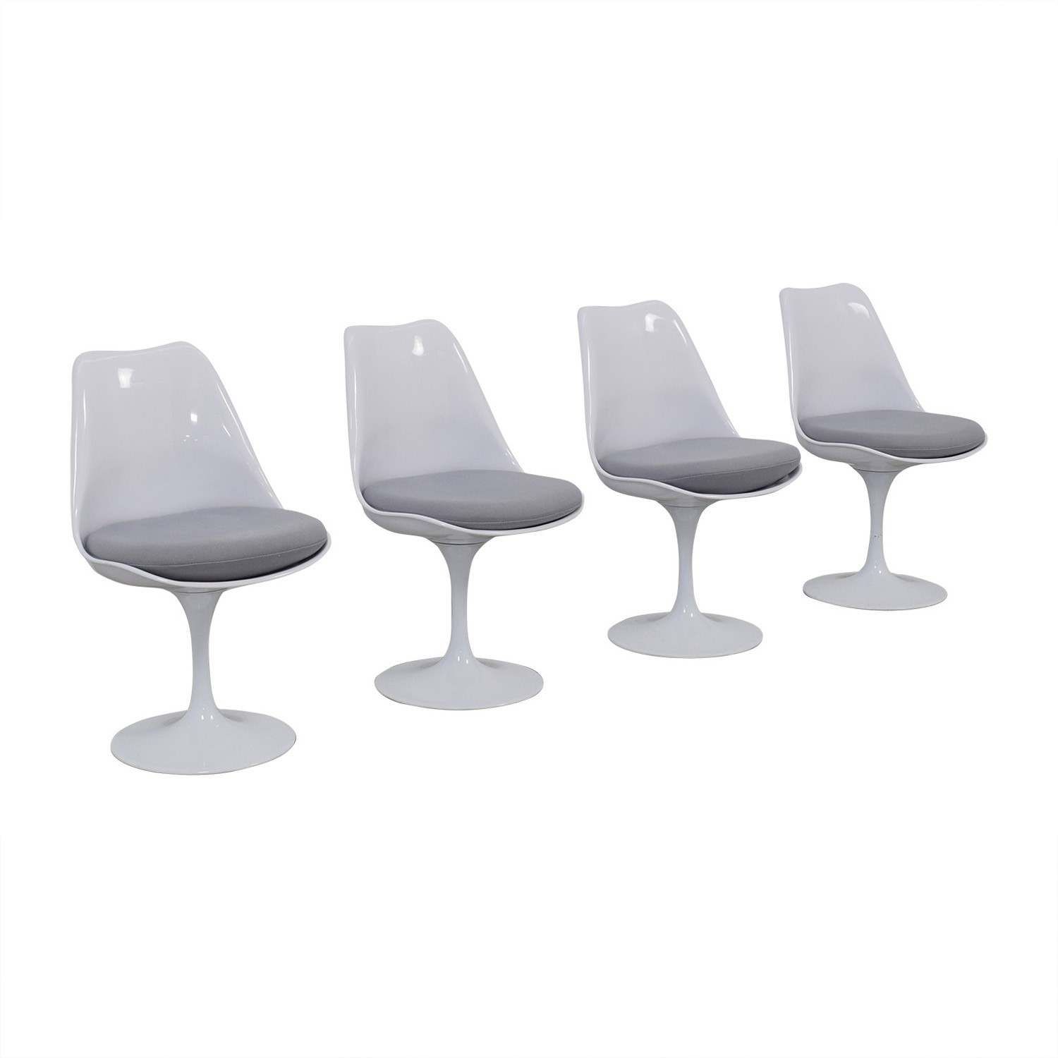 Modway Modway Lippa Gray Dining Fabric Side Chairs Dining Chairs