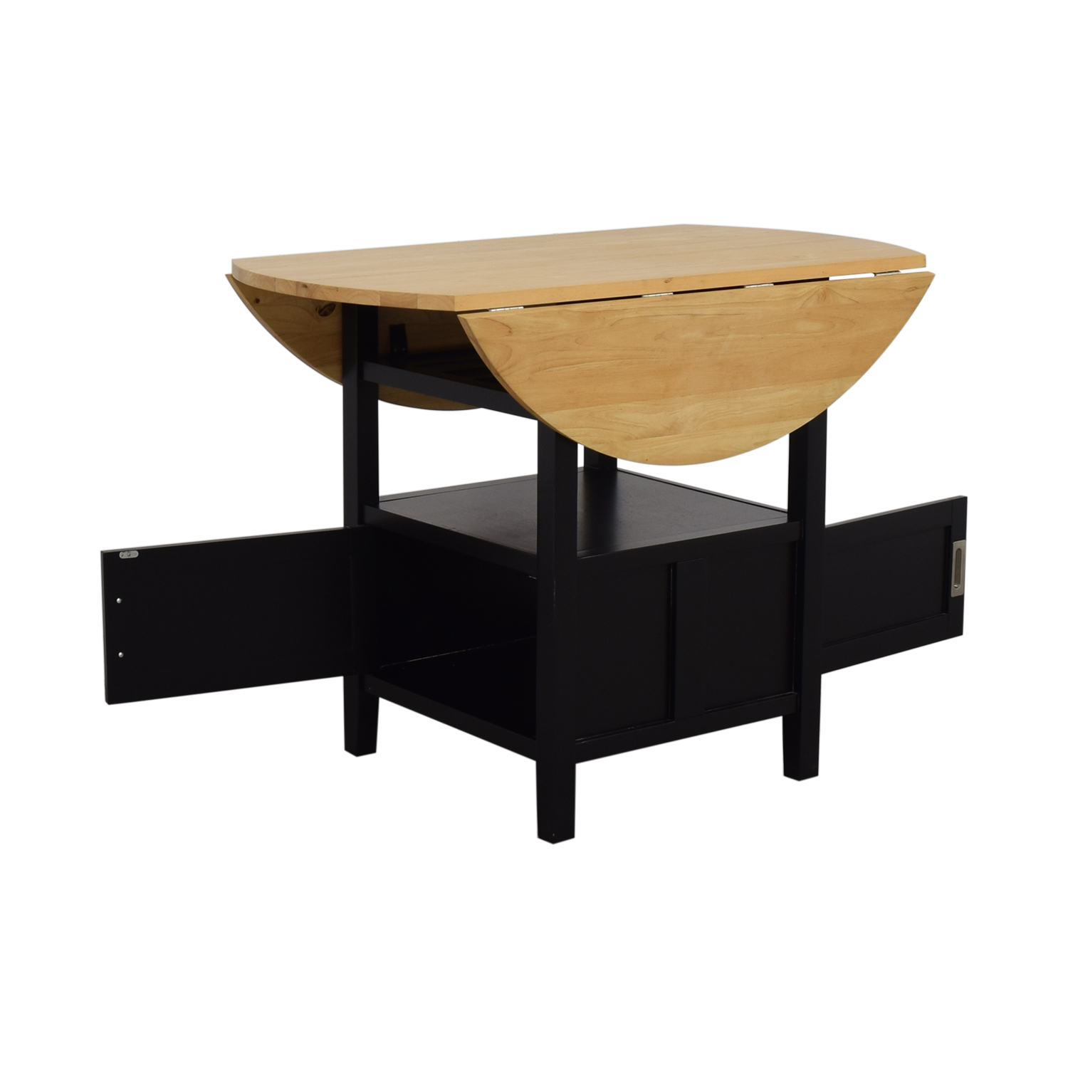 shop Crate & Barrel Belmont High Dining Table with Storage Crate & Barrel Dinner Tables