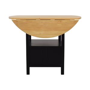 Crate & Barrel Crate & Barrel Belmont High Dining Table with Storage nj