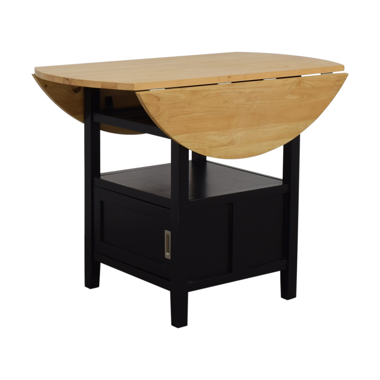 Crate & Barrel Belmont High Dining Table with Storage / Tables