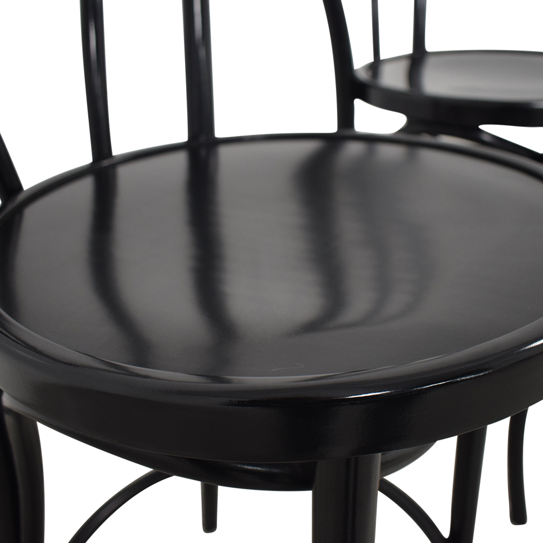 Crate & Barrel Vienna Black Counter Stools sale
