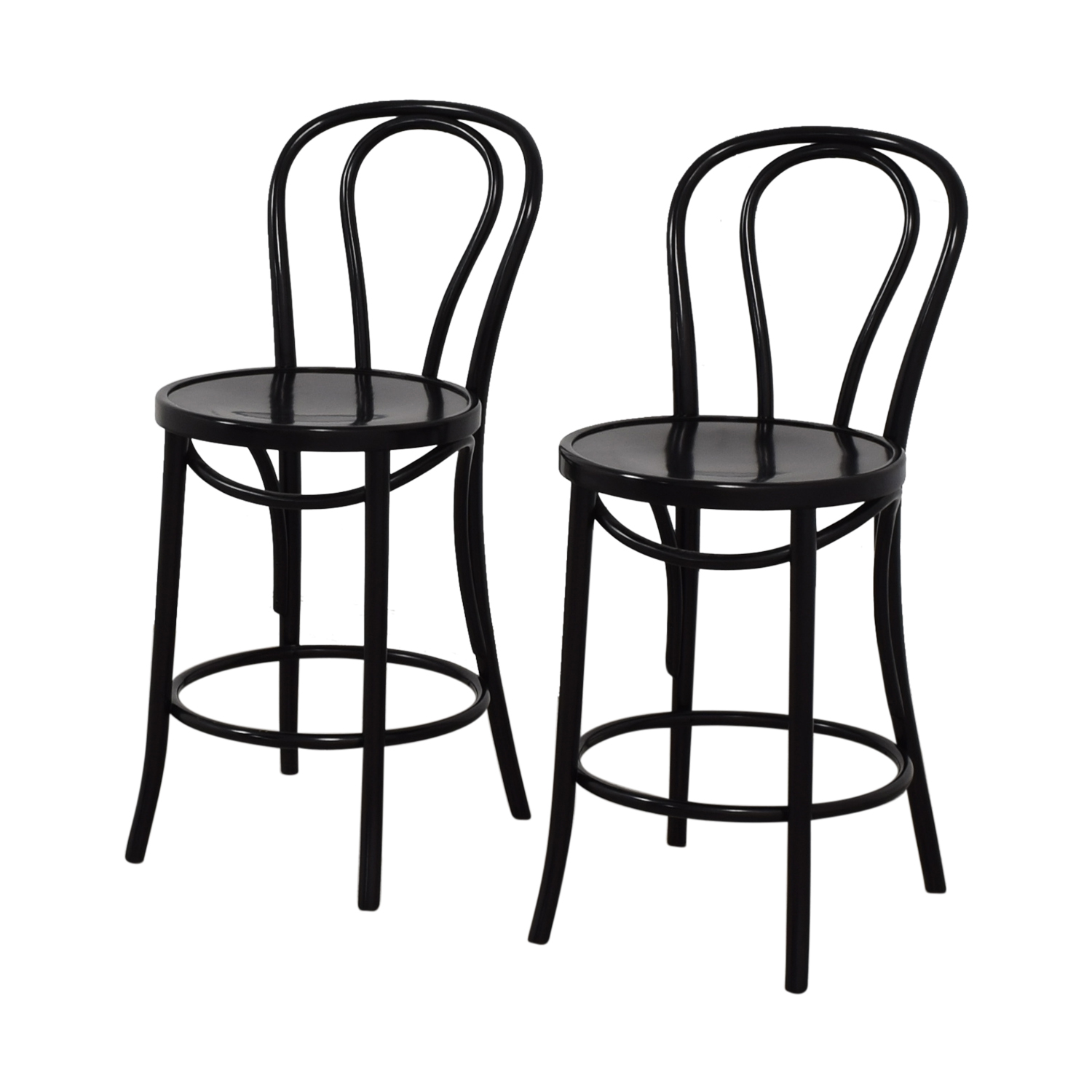Crate & Barrel Crate & Barrel Vienna Black Counter Stools Chairs