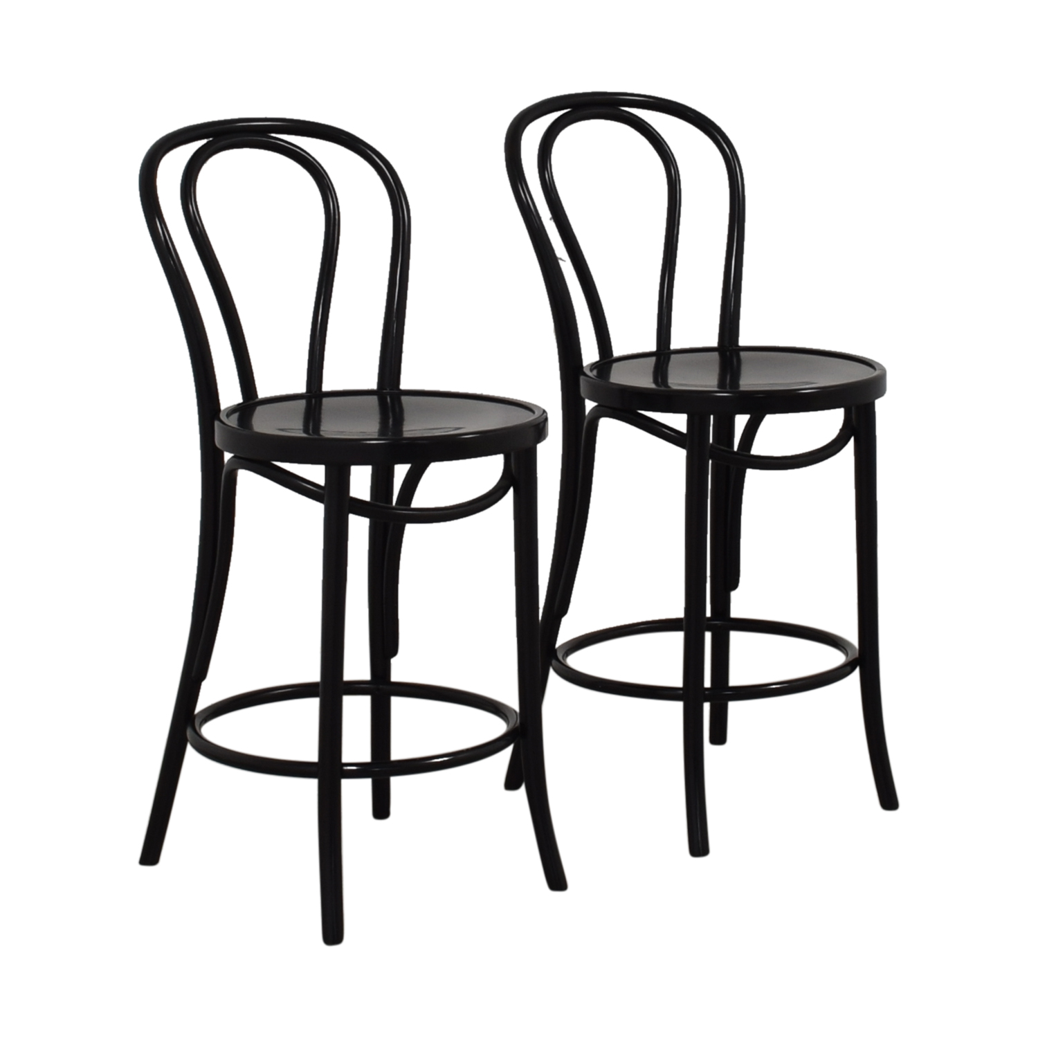 Peachy 80 Off Crate Barrel Crate Barrel Vienna Black Counter Stools Chairs Ncnpc Chair Design For Home Ncnpcorg