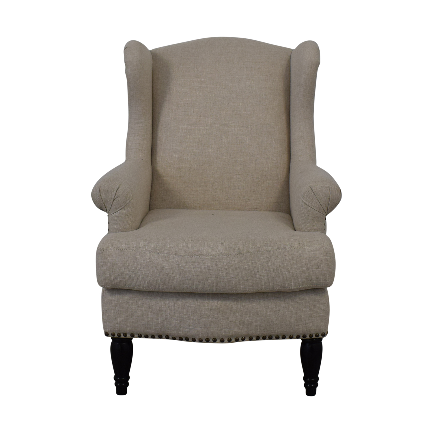 buy Pottery Barn Soma Delancey Upholstered Wingback Armchair Pottery Barn Chairs
