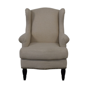 Pottery Barn Pottery Barn Soma Delancey Upholstered Wingback Armchair discount