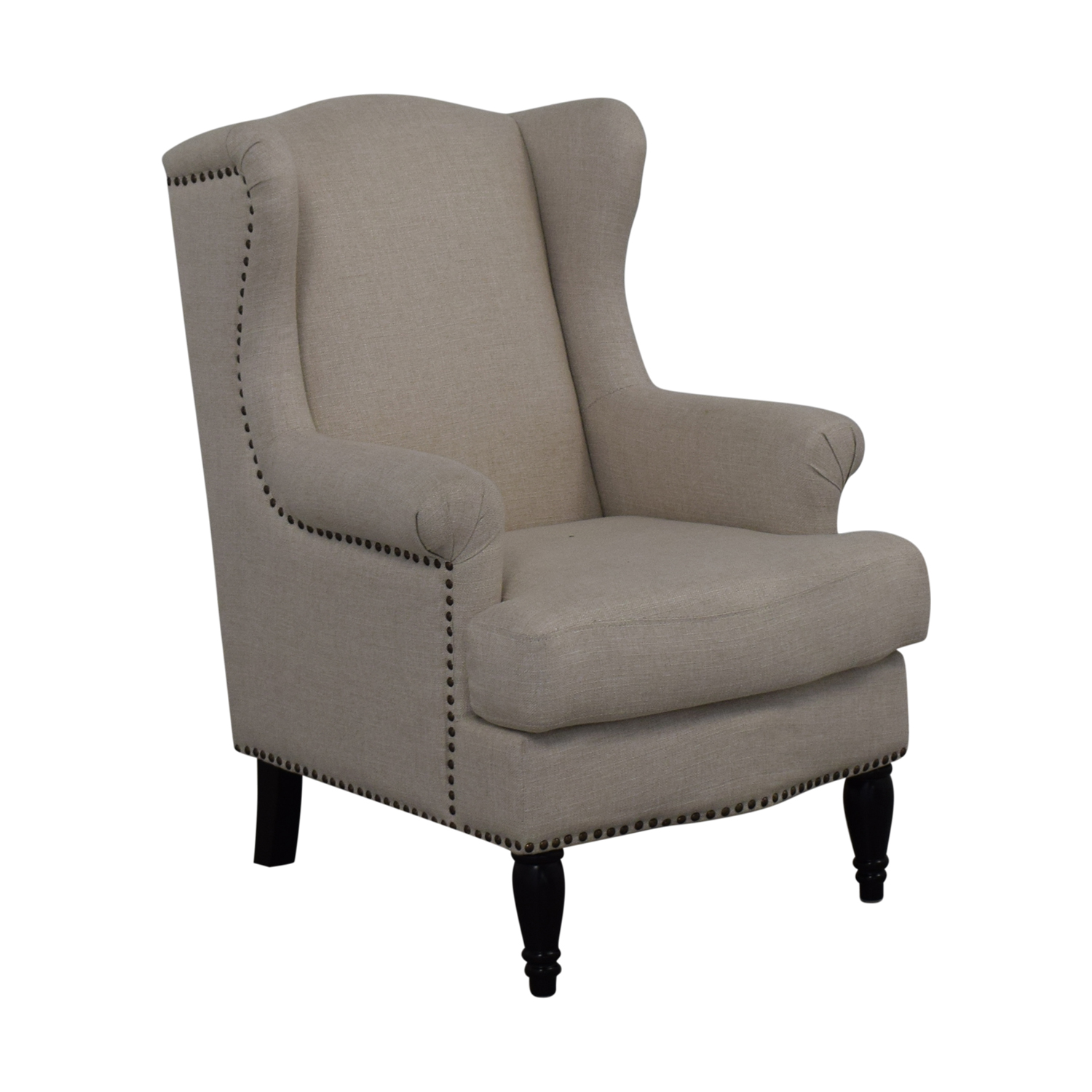 Pottery Barn Soma Delancey Upholstered Wingback Armchair / Chairs