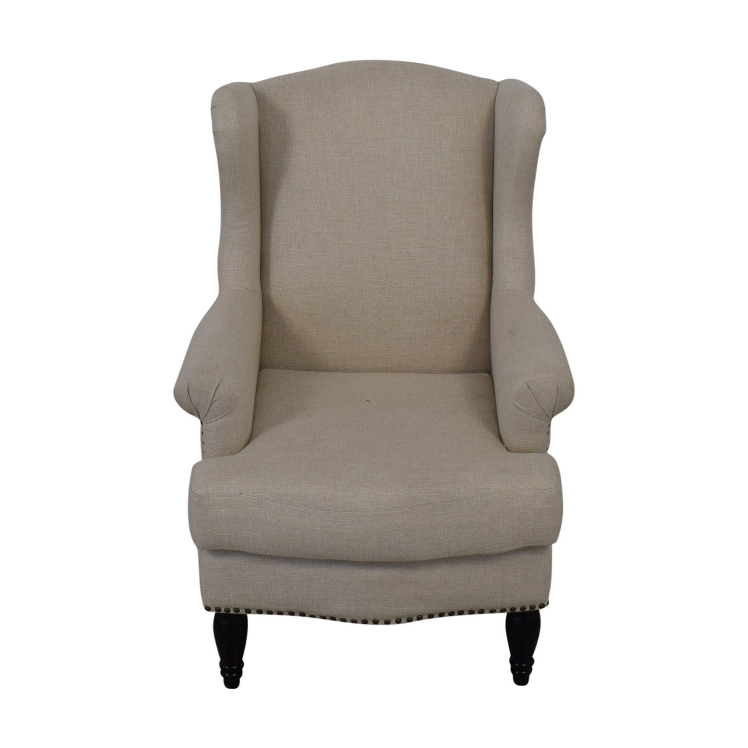 Pottery Barn Pottery Barn Soma Delancey Upholstered Wingback Armchair for sale