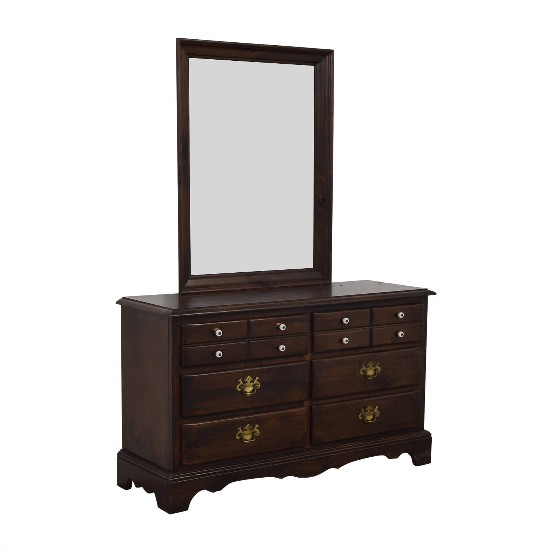 Ethan Allen Ethan Allen Six-Drawer Dresser with Mirror on sale