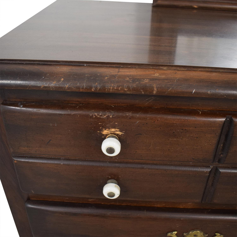 Ethan Allen Six-Drawer Dresser with Mirror / Dressers
