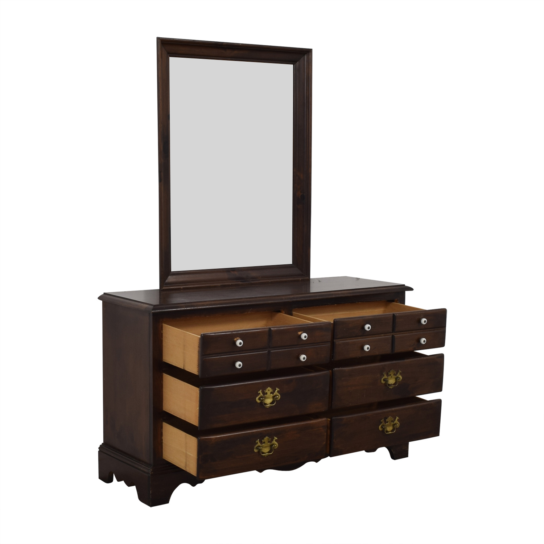 Ethan Allen Ethan Allen Six-Drawer Dresser with Mirror nyc