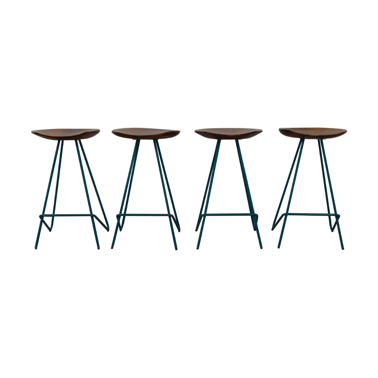 From the Source From the Source Teal Perch Bar Stools nyc
