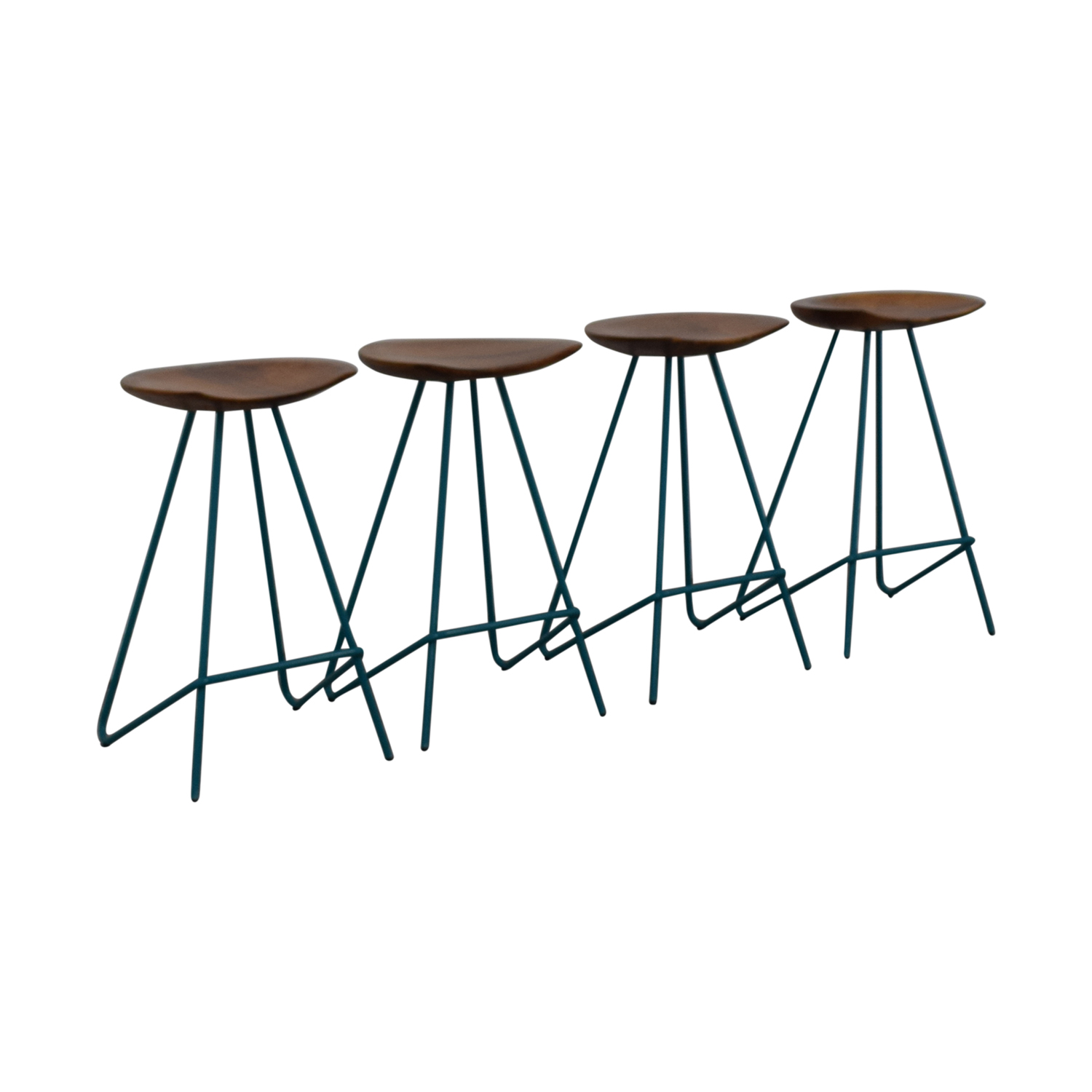 shop From the Source Teal Perch Bar Stools From the Source