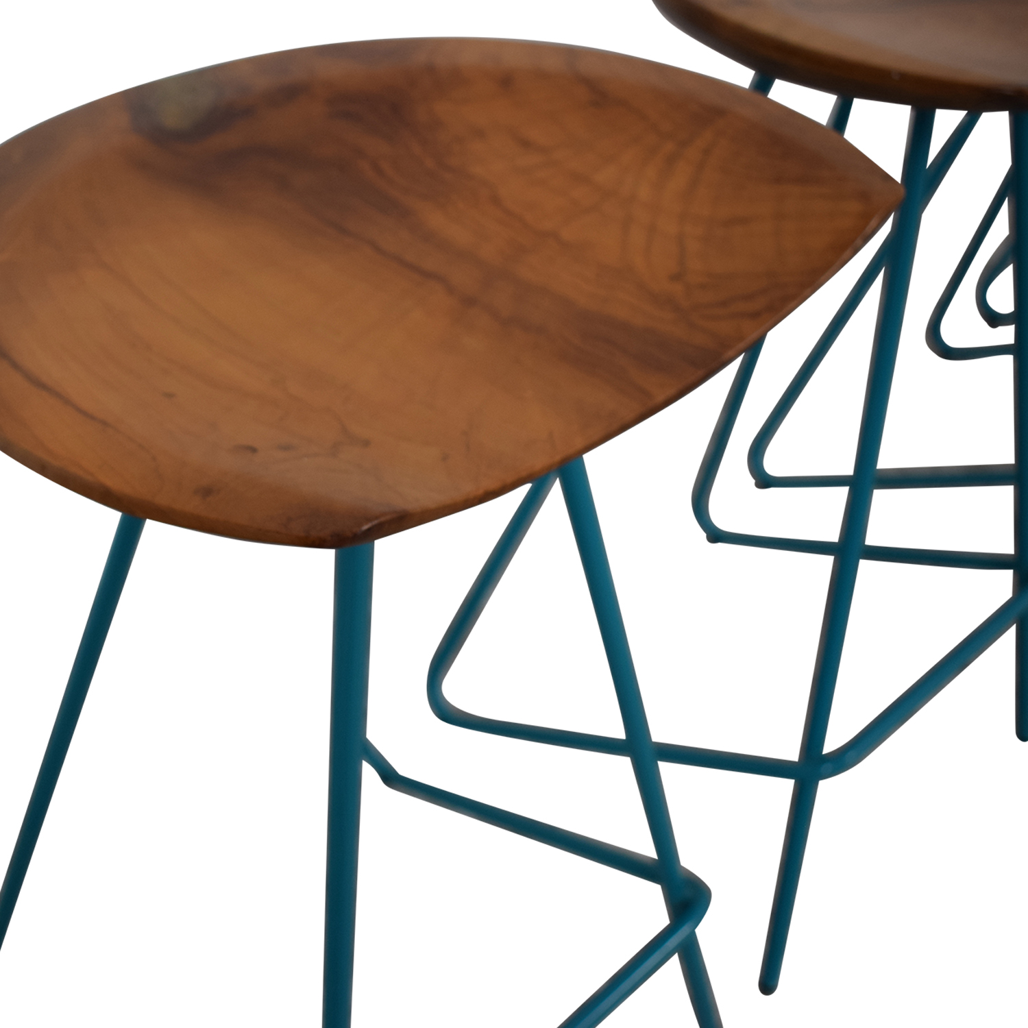 From the Source Teal Perch Bar Stools / Stools