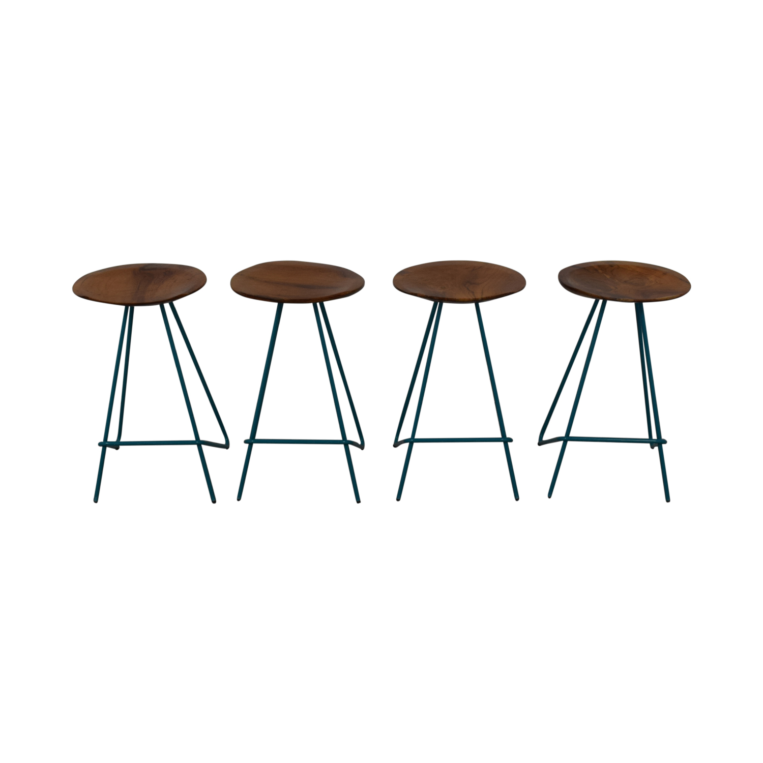 From the Source From the Source Teal Perch Bar Stools dimensions