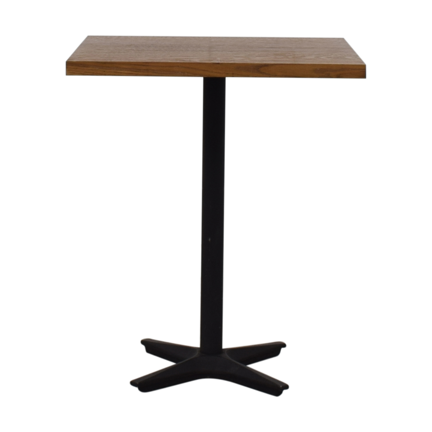 Small Wood Square Table brown