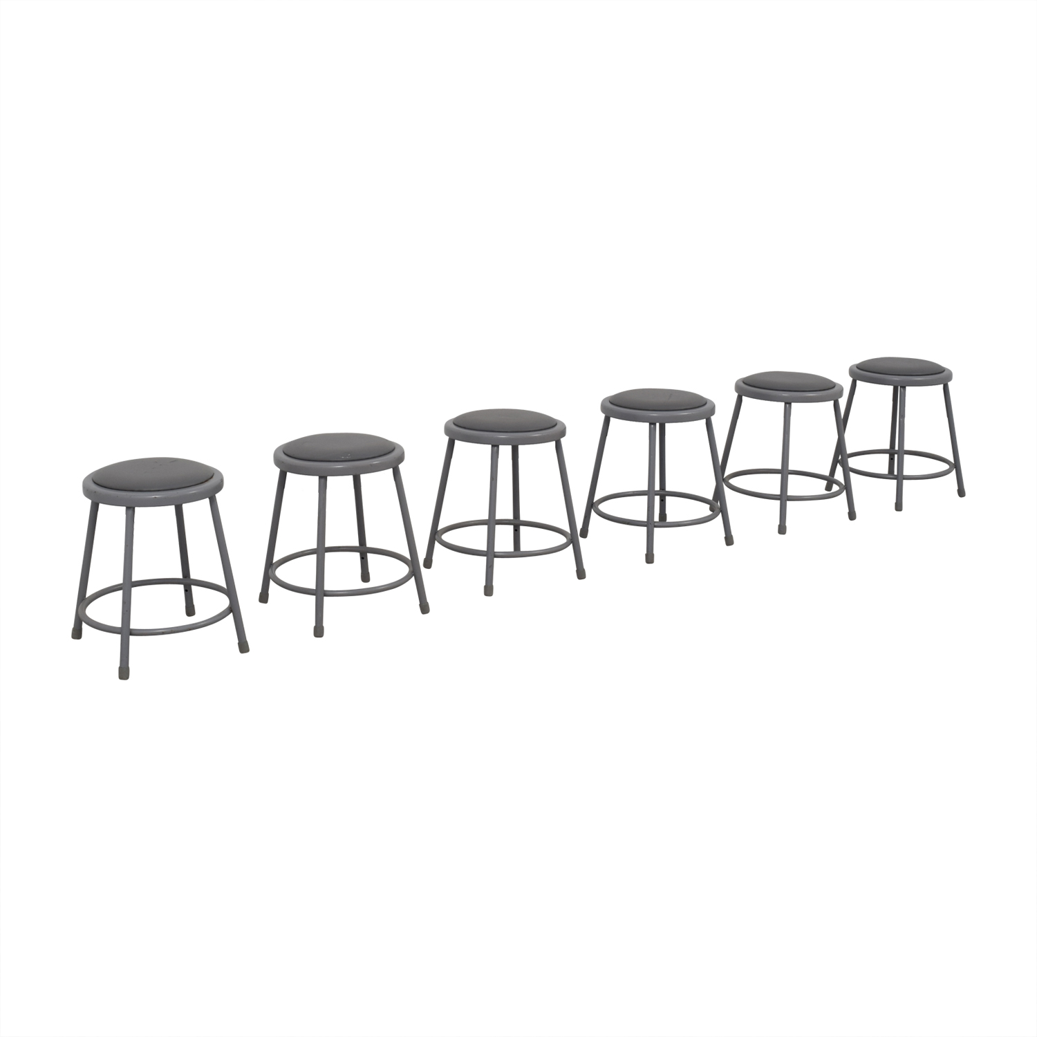 National Public Seating National Public Seating Metal Shop Stools gray