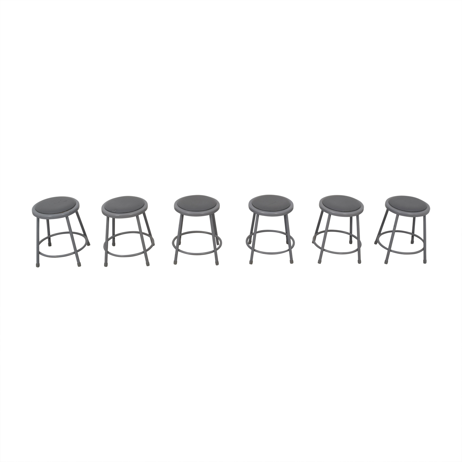 National Public Seating Metal Shop Stools sale