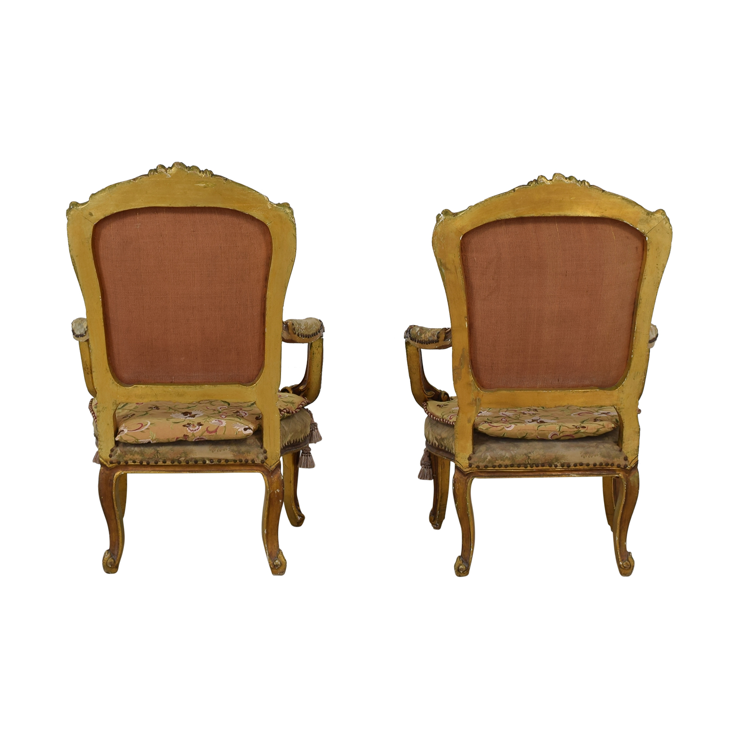 buy Distressed Antique Louis XV Accent Chairs
