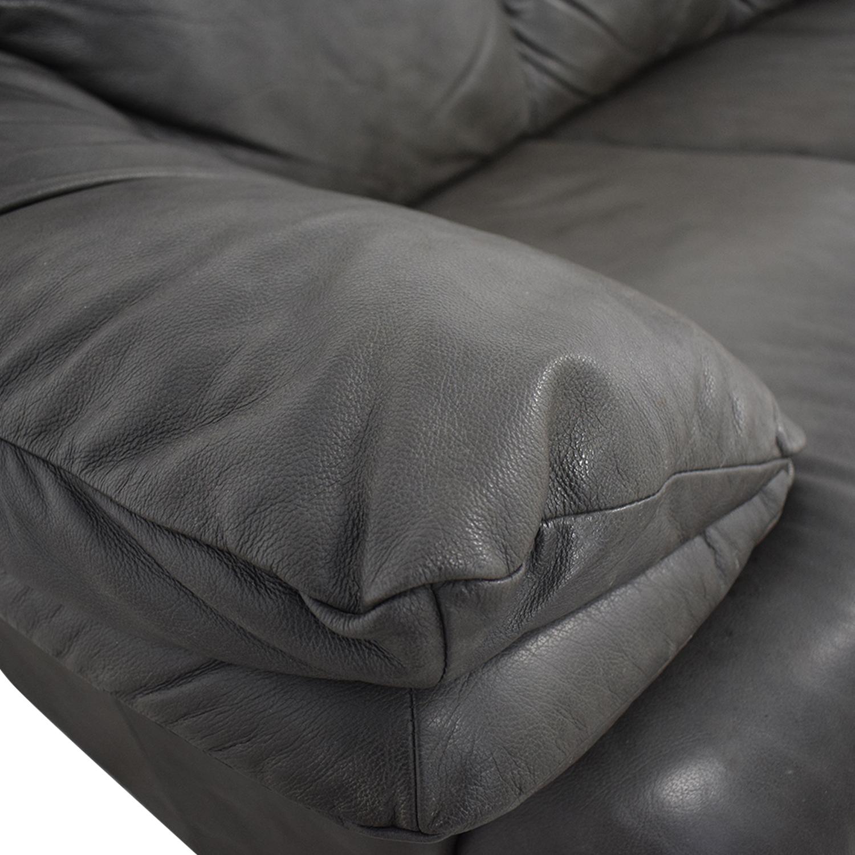Macy's Macy's Grey Three-Cushion Sofa gray