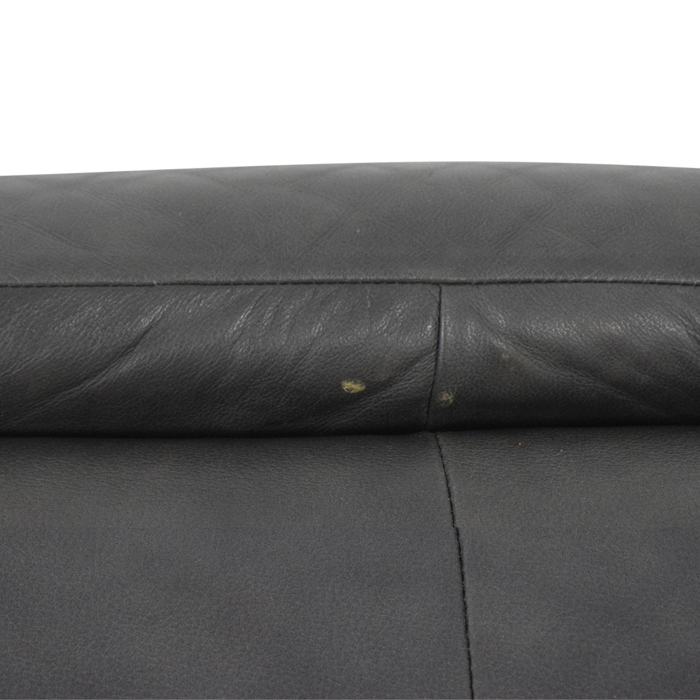 Macy's Macy's Grey Three-Cushion Sofa nj