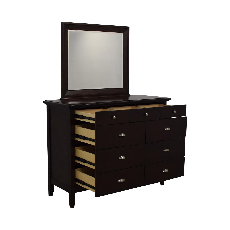 Modern Nine-Drawer Dresser With Mirror price