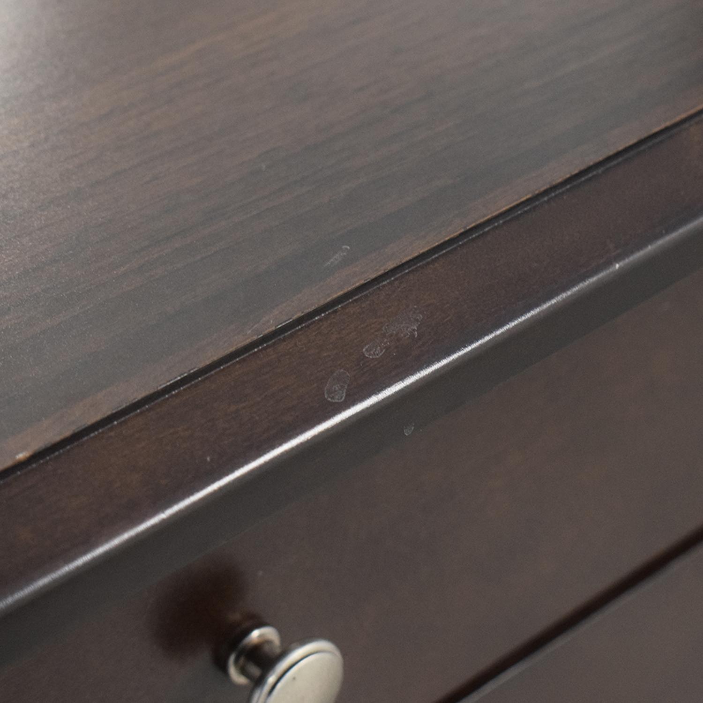 Modern Nine-Drawer Dresser With Mirror nj