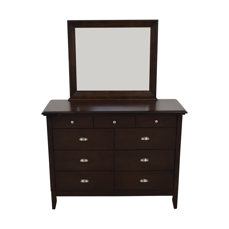 Modern Nine-Drawer Dresser With Mirror coupon