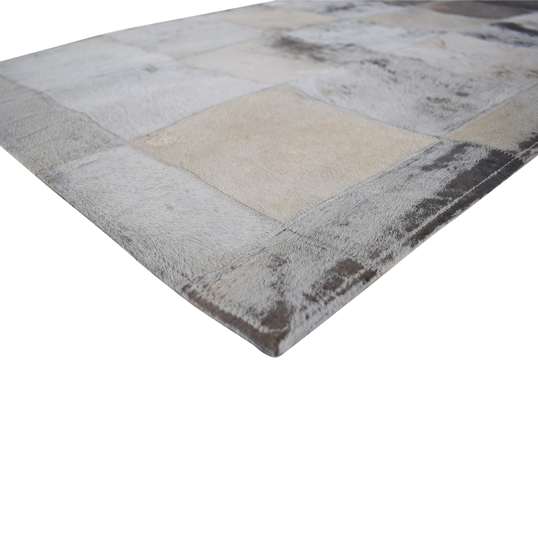 ABC Carpet & Home Cowhide Patchwork Rug ABC Carpet & Home