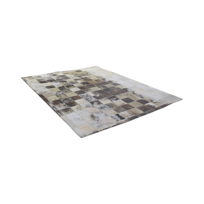 ABC Carpet & Home ABC Carpet & Home Cowhide Patchwork Rug nj