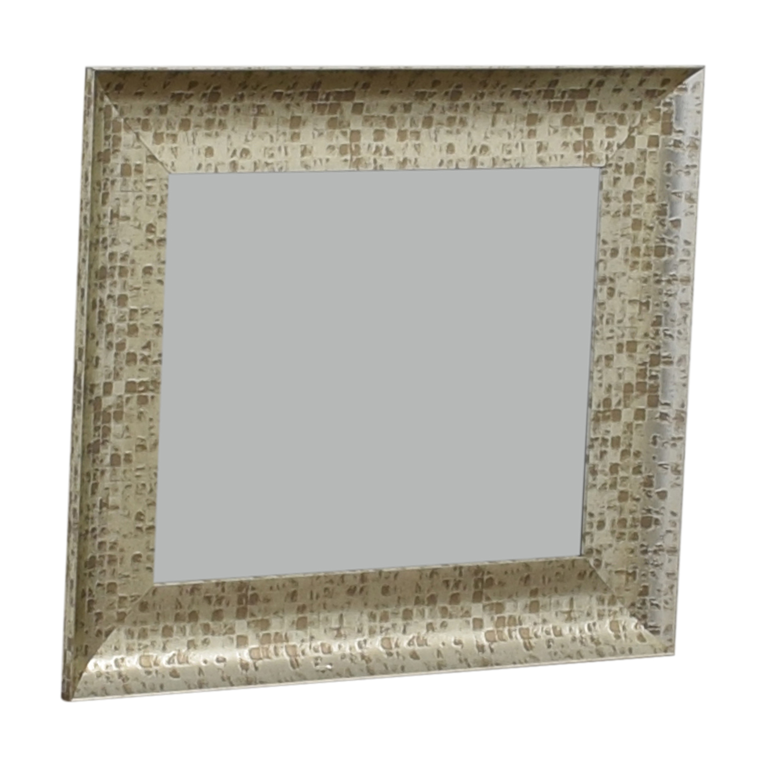 West Elm West Elm Distressed Gold Wall Mirror Silver