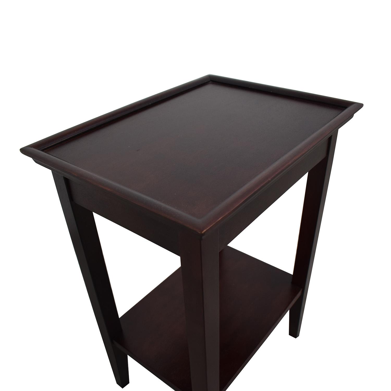 shop Crate & Barrel Bradshaw Side Table Crate & Barrel