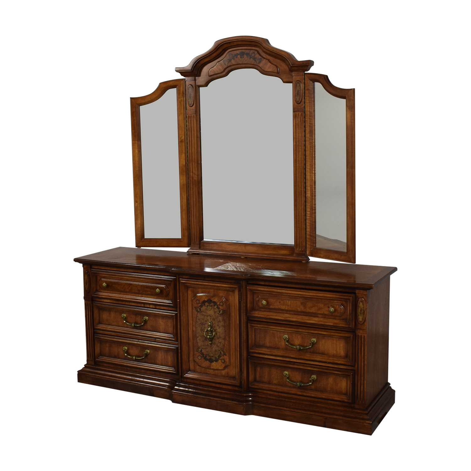 shop Stanley Furniture Stanley Furniture Chest Of Nine Drawers With Mirror online