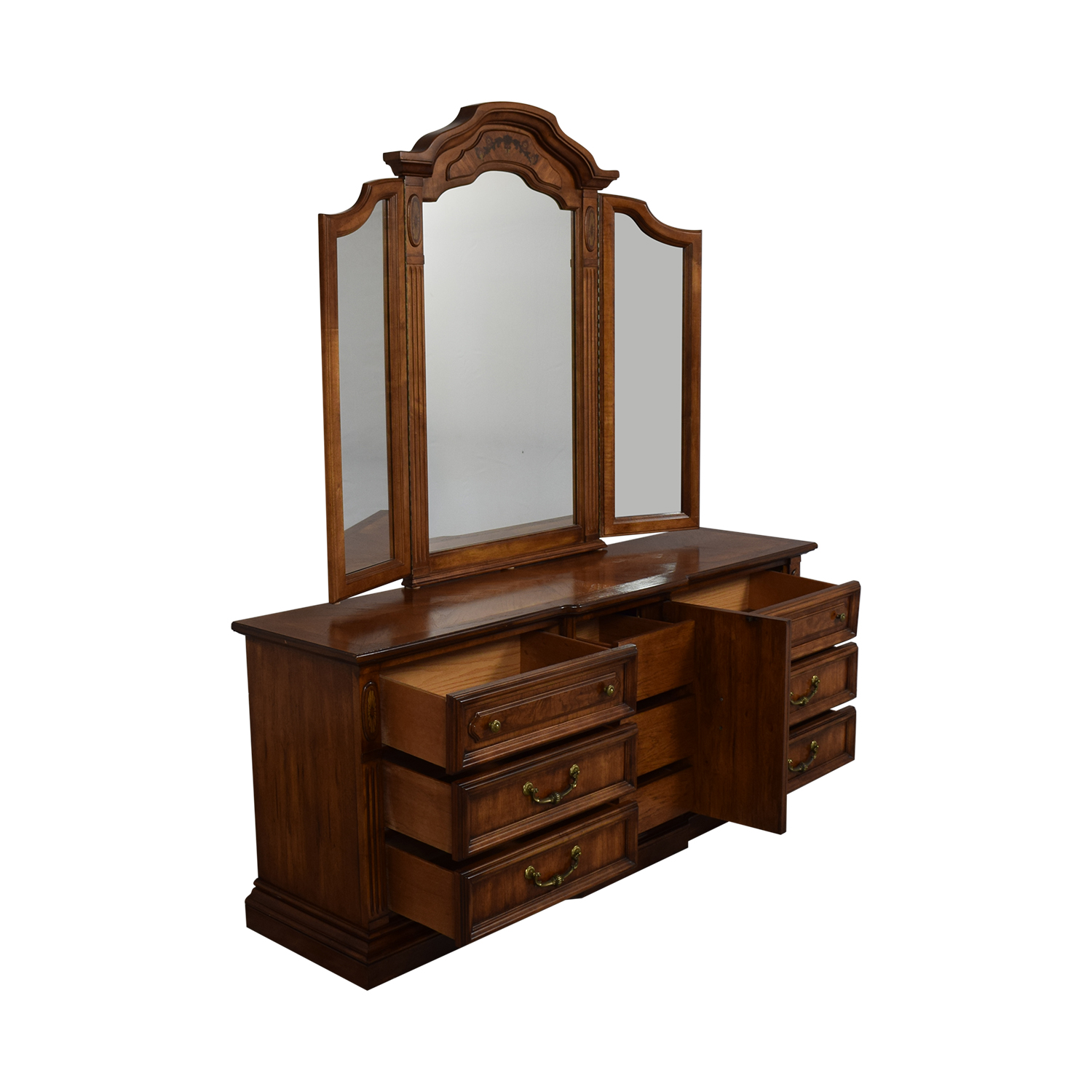 shop Stanley Furniture Chest Of Nine Drawers With Mirror Stanley Furniture
