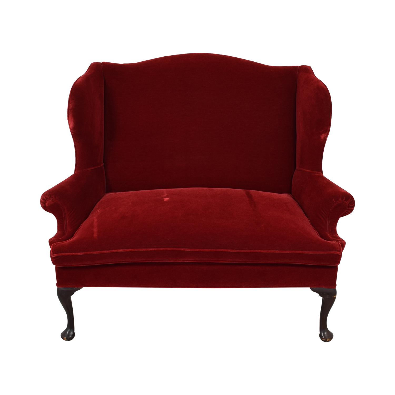 buy Frederick Edward Red Velvet Settee Frederick Edward