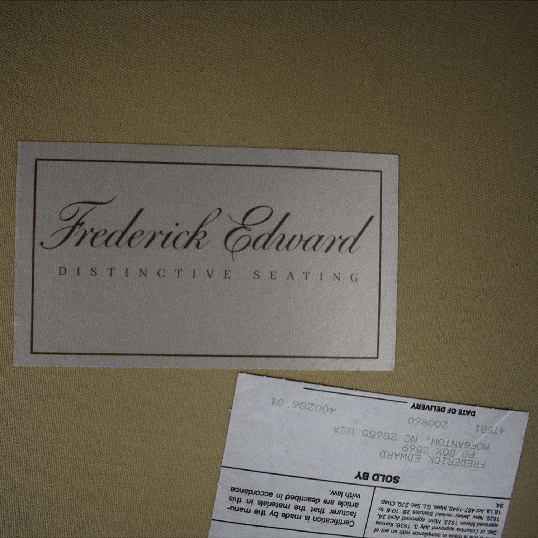 Frederick Edward Frederick Edward Red Velvet Settee second hand