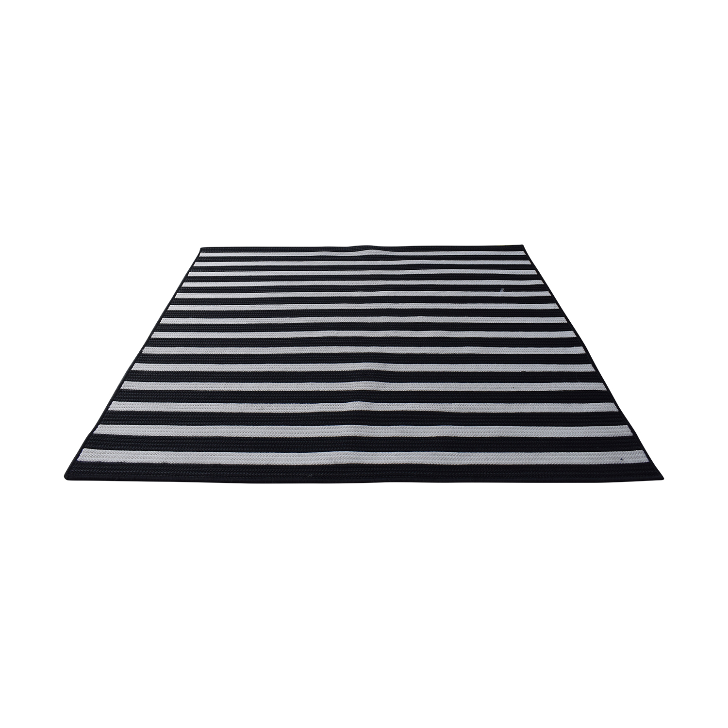Viv + Rae Black and White Rug / Decor